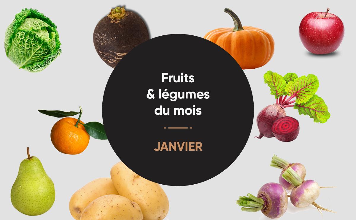 Fruits légumes de janvier